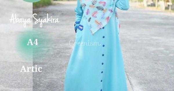 Gamis greenism abaya syakira a4 artic baju muslim wanita Baju gamis yg lg ngetren