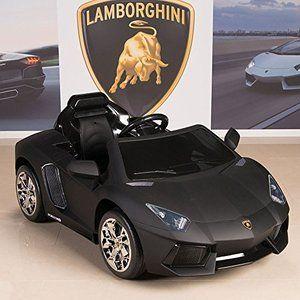 Lamborghini Aventador 12v Kids Ride On Battery Powered Wheels Car Rc Remote Black Kids Ride On Power Wheel Cars Power Wheels