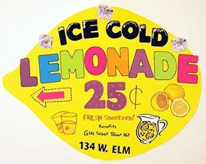 Make A Lemonade Sale Poster Ice Cold Lemonade Poster Ideas Diy Lemonade Stand Lemonade Stand Sign Kids Lemonade Stands