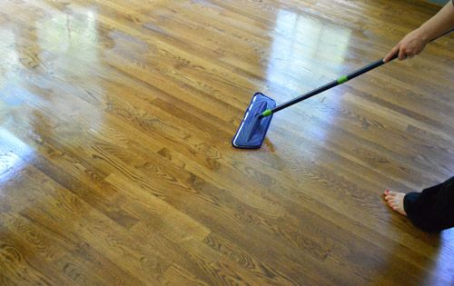 How to clean gloss up and seal dull old hardwood floors for Vinegar on concrete floor