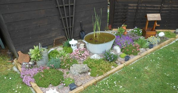 This is a rockery i designed for a small area not being for Landscaping ideas for very small areas