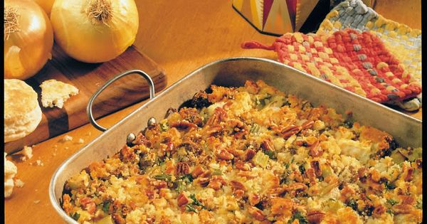 Sausage Cornbread Dressing with Apples and Pecans #Recipe ...