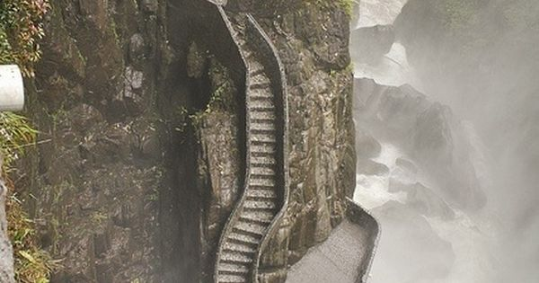 Pailon delDiablo Waterfall pathway - Ecuador