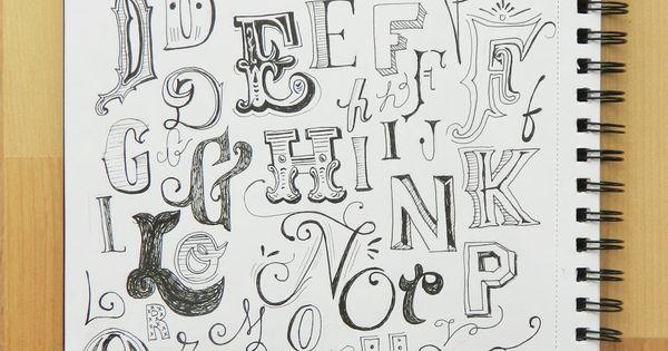 Lyssadee: Exploring lettering. typography vintage lettering