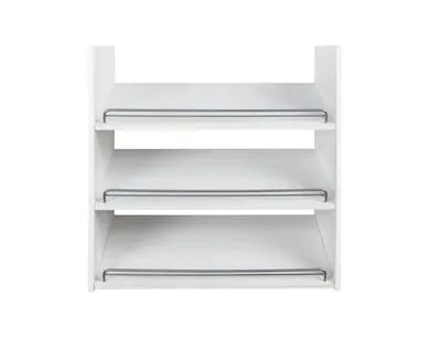 Rubbermaid Fasttrack Wood Shoe Unit White At Lowes Com Wood