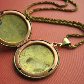 Antique Vintage 4 Picture Locket Necklace Memories Gold Filled Family A Flower for My Love