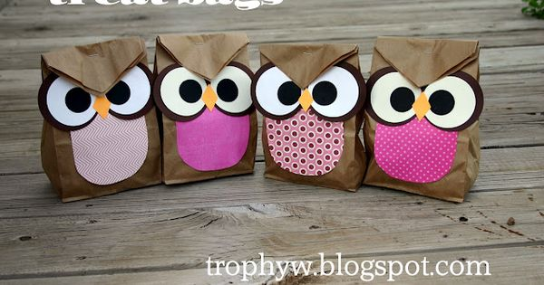 Night Owl Party Inspiration | Hellobee Owl treat bags- so cute.