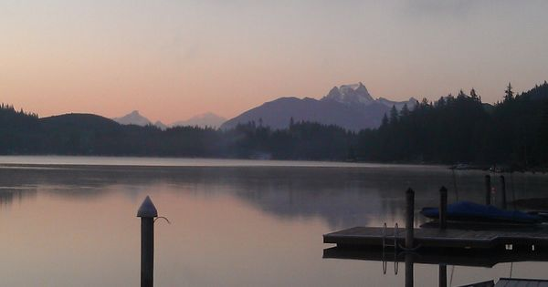 Lake Cavanaugh Sunrise Just About Time To Go Skiing