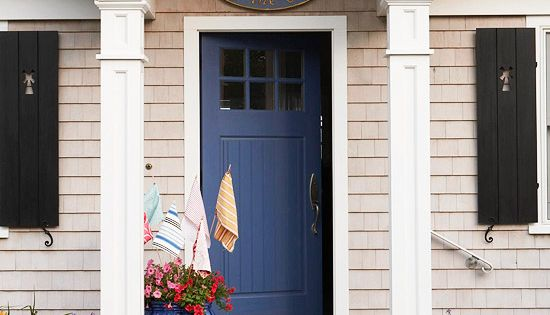 bright blue front door color ideas
