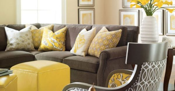 Image Detail For Gold On The Walls The Gray Sofa And
