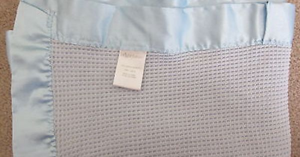 Bright Future Blue Thermal Waffle Baby Blanket Acrylic