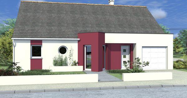 confort et fonctionnalit pour cette maison de plain pied la fa ade en deux couleurs. Black Bedroom Furniture Sets. Home Design Ideas