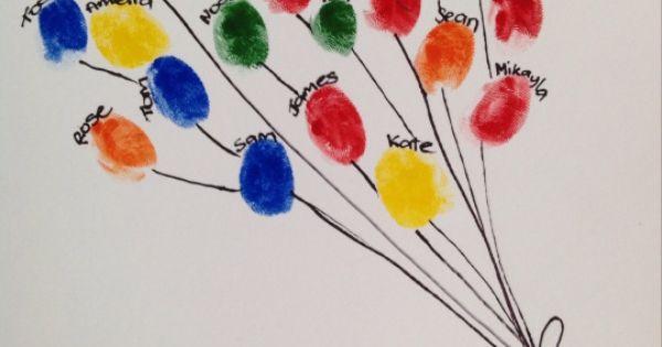 Tumbprint balloon bouquet