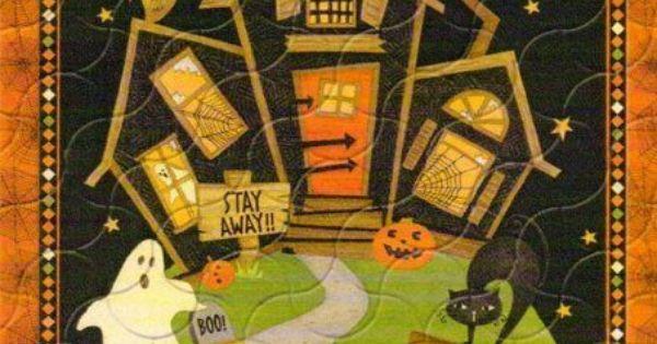 Halloween Panel Fabric