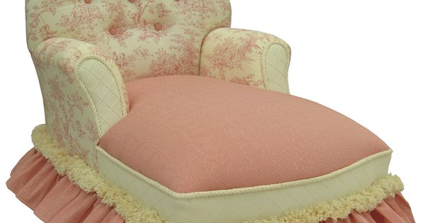 Pink toile chaise lounge furniture decor pinterest - Changer toile chaise longue ...