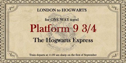 Hogwarts Express Train Ticket Harry Potter Ticket Harry Potter Theme Harry Potter Train
