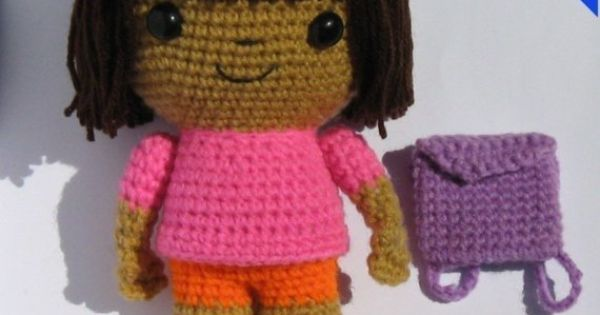 Knitting Pattern For Dora The Explorer Doll : Dora the Explorer Doll PDF Crochet Pattern by kandjdolls on Etsy Crocheting...