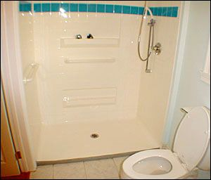 3 Wall Wheelchair Accessible Shower Accessible Design