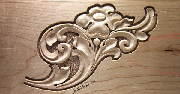 Nice leaf and flower design simple but elegant carved