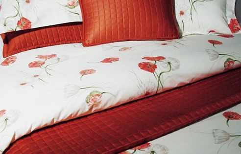 Poppies Red Bedding By Revelle Bedspread Comforter And