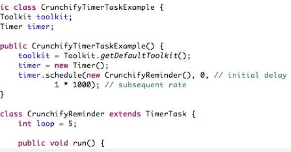 Java Timer And Timertask Reminder Class Tutorials Example