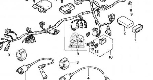 honda cb250 two fifty 1992 n spain wire harness ignition coil  pinterest
