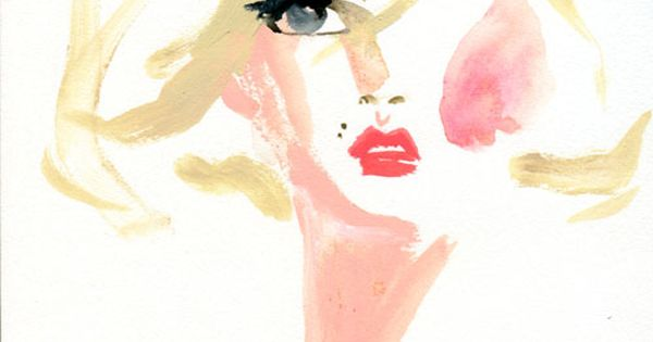 Marilyn Monroe watercolor art painting