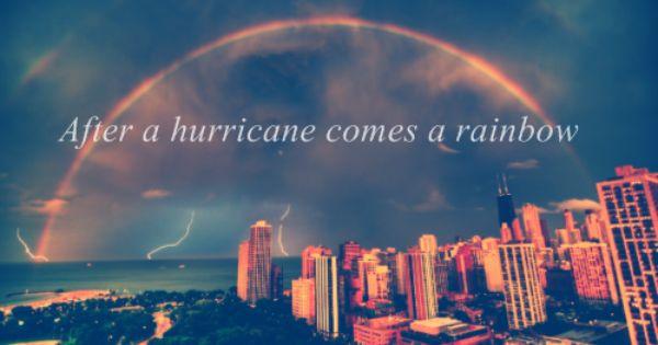After A Hurricane Comes A Rainbow Rainbow City Scenery Photography City Skyline