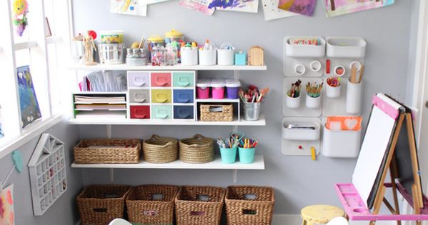 How to create perfect Kids' craft corner  kiddos  Pinterest  놀이방, 아이 방 ...