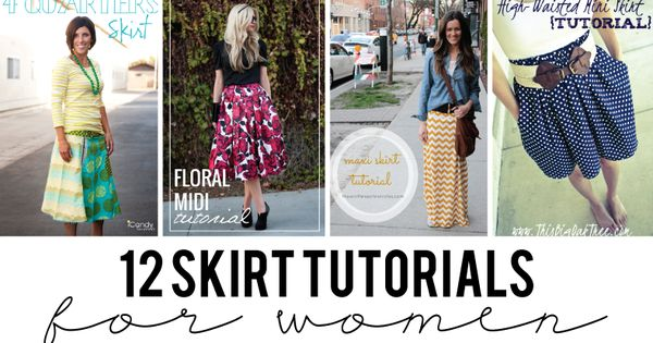 12 Skirt Tutorials for Women - seven thirty three