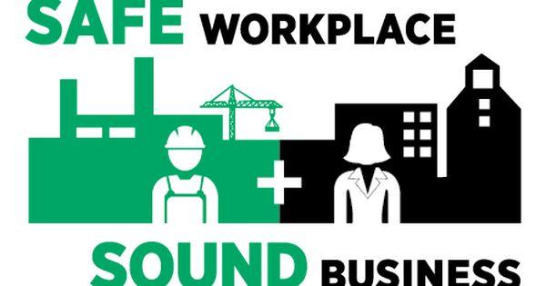 Safe Workplace Sound Business Logo Occupational Health And Safety Workplace Safety Safety Management System