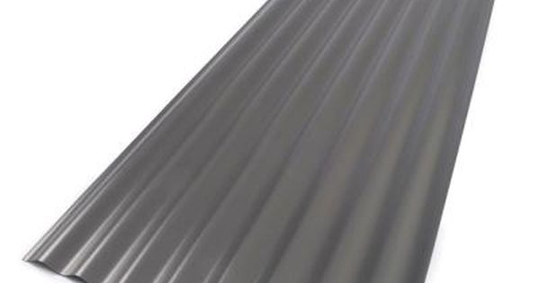 Suntop 26 In X 12 Ft Foamed Polycarbonate Corrugated Roof Panel In Castle Grey 108975 The Home Depot Roof Panels Corrugated Roofing Polycarbonate Roof Panels