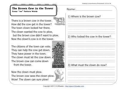 Week 6 Reading Comprehension A 6 Focus Words In The Ig Family Th Reading Comprehension Worksheets Comprehension Worksheets Teaching Reading Comprehension Comprehension worksheets for grade 6