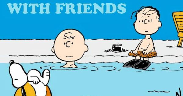Happiness Is Swimming With Friends The Peanuts Gang Pinterest Snoopy Peanuts Gang And