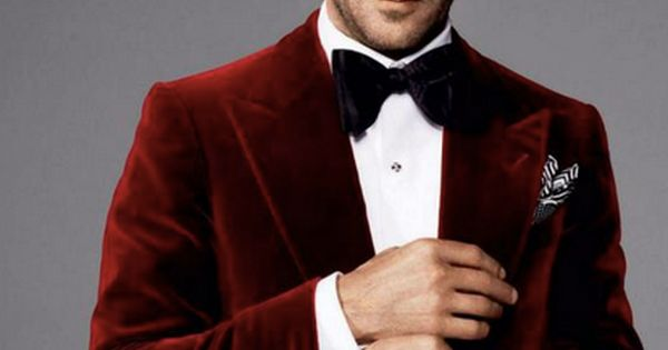 Tom Ford, my style icon in a crushed velvet blazer in RED!