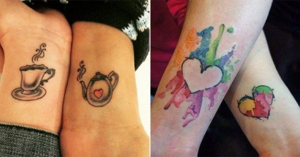 20 mother daughter tattoos that will bond you together for Together forever tattoo