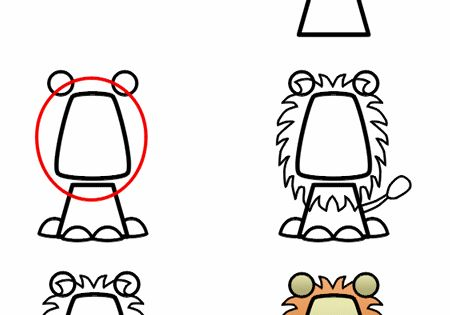 K-1st: How to draw cartoon animals site.