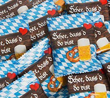 Amazon De 25 Stuck Kleine Bayern Blau Weiss Gummibarchen Give Away Geschenk Schon Dass Du Da Bist Gastgesch Bayerische Geschenke Wiesn Dekorationen Oktoberfest