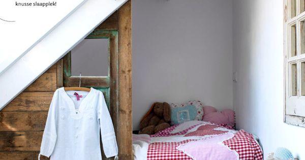 kinderbed onder schuin dak - dekbedhoes blond amsterdam - slinger ...