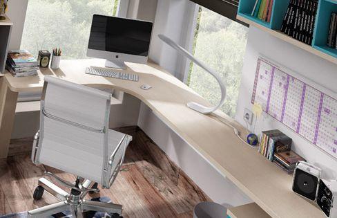 Habitaci n juvenil niu pr ctica y funcional con cama - Tres estudio ...