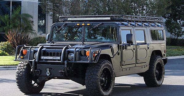 2000 Am General Hummer H1 In Matte Black Full Restoration In 2015 Must See H 1 Hummer H1 Hummer Hummer Cars