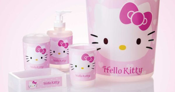 hello kitty bathroom set in pink home decor pinterest hello kitty bathroom hello kitty. Black Bedroom Furniture Sets. Home Design Ideas