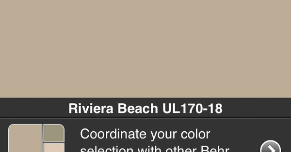 Behr Paint Color Riviera Beach Our House Pinterest