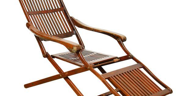 Ocean Steamer Deck Chair Early 20th Century Deck Chairs