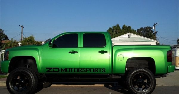 lime green chevrolet silverados chevrolet trucks pinterest silverado truck chevrolet. Black Bedroom Furniture Sets. Home Design Ideas
