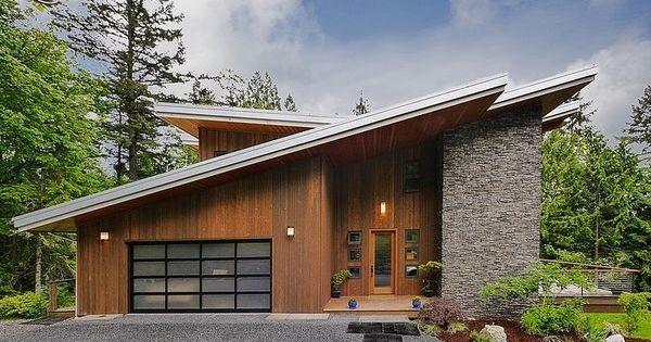 impresionante casa moderna d en la base de la monta a