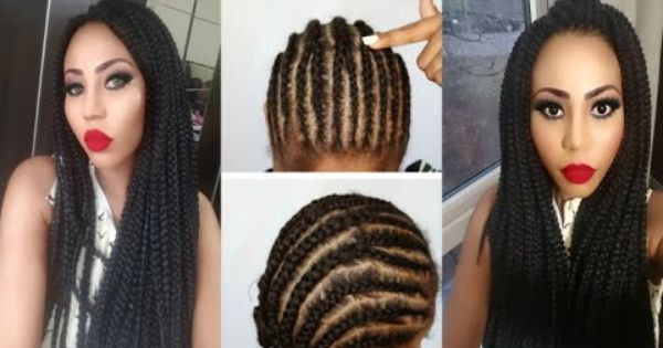 Crochet Box Braids Tutorial : How to Crochet Box Braids Tutorial (Invisible parting method ) Hair ...
