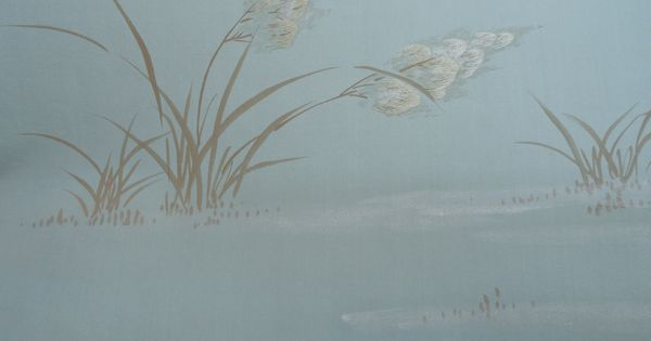 fromental pampas grass embroidered and hand painted