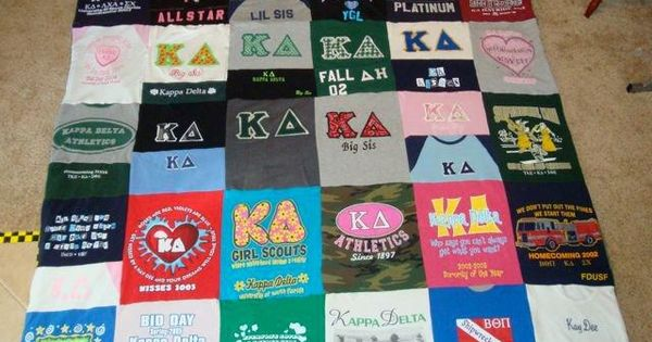 t shirt quilt -this is exactly what I want to do with