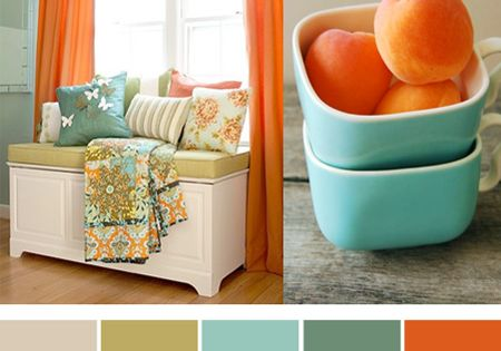 I love this color palette for a kitchen!!! Invigorating color combination -
